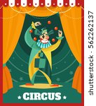 traveling circus advertisement... | Shutterstock .eps vector #562262137