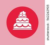 wedding cake love couple simple ... | Shutterstock .eps vector #562262905