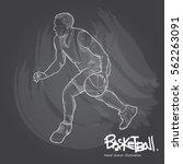 hand drawn illustration of... | Shutterstock .eps vector #562263091