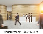 busy office. people are walking ... | Shutterstock . vector #562263475