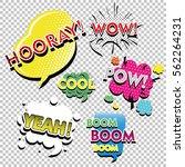 set of comic text  pop art... | Shutterstock .eps vector #562264231