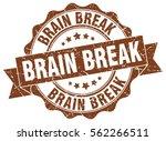 brain break. stamp. sticker.... | Shutterstock .eps vector #562266511