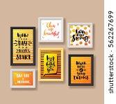 template  vector trendy hand... | Shutterstock .eps vector #562267699