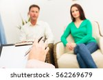 couple seeing a psychotherapist | Shutterstock . vector #562269679
