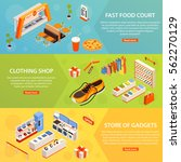 fast food court wear and gadget ... | Shutterstock .eps vector #562270129