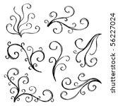 artistic curl elements | Shutterstock .eps vector #56227024