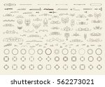 vintage decor elements and... | Shutterstock . vector #562273021