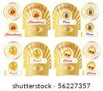 a set of gold jam labels for... | Shutterstock . vector #56227357