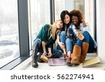 concept of three different... | Shutterstock . vector #562274941