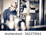 young mechanic   apprentice... | Shutterstock . vector #562275061