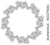 elegant round frame with... | Shutterstock .eps vector #562275661