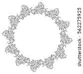 elegant round frame with... | Shutterstock .eps vector #562275925