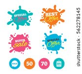 best offer and sale splash... | Shutterstock .eps vector #562278145