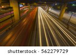 car light trails on street... | Shutterstock . vector #562279729