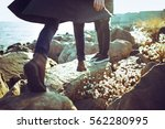 young couple  hipster outfit ...   Shutterstock . vector #562280995
