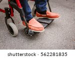 senior man in wheelchair  close ... | Shutterstock . vector #562281835