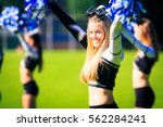 cheerleaders team practicing | Shutterstock . vector #562284241