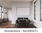 coffee shop interior with a... | Shutterstock . vector #562285471