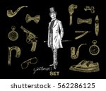 victorian era collection ... | Shutterstock .eps vector #562286125