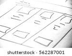 web layout sketch paper book ...