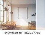bar interior with a row of... | Shutterstock . vector #562287781