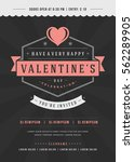 happy valentines day party... | Shutterstock .eps vector #562289905