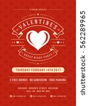 happy valentines day party... | Shutterstock .eps vector #562289965