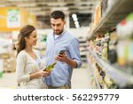 shopping  food  sale ... | Shutterstock . vector #562295779