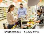shopping  sale  consumerism ... | Shutterstock . vector #562295941