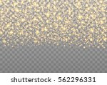 gold sparkles on the... | Shutterstock .eps vector #562296331