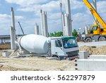 Mixer Truck Is Transport Cemen...