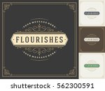 royal logo design template... | Shutterstock .eps vector #562300591