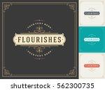 royal logo design template... | Shutterstock .eps vector #562300735