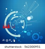 technology planning   abstract  ... | Shutterstock . vector #562300951