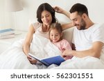 people  family and morning... | Shutterstock . vector #562301551
