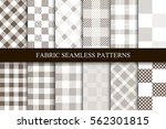 collection of textile seamless... | Shutterstock .eps vector #562301815