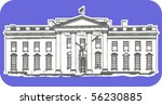 the depiction of white house | Shutterstock .eps vector #56230885