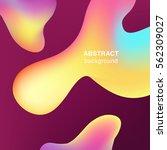 fluid substance abstract... | Shutterstock .eps vector #562309027