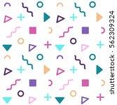 avant garde geometric seamless... | Shutterstock .eps vector #562309324