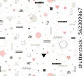 cute trendy seamless pattern in ... | Shutterstock .eps vector #562309867