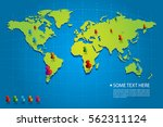blue world map vector with... | Shutterstock .eps vector #562311124