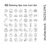 49 spa line icon set | Shutterstock .eps vector #562311991