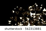 3d rendering gold and glass... | Shutterstock . vector #562313881