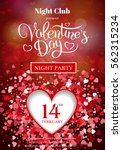 valentines day party flyer...   Shutterstock .eps vector #562315234