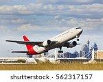 modern passenger airplane...   Shutterstock . vector #562317157