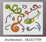swirls and curls hand drawn... | Shutterstock .eps vector #562317709