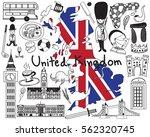 travel to united kingdom...   Shutterstock .eps vector #562320745