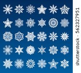 set of vector snowflakes | Shutterstock .eps vector #562327951