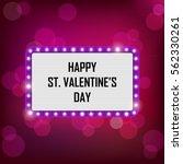 vector neon shining st.... | Shutterstock .eps vector #562330261