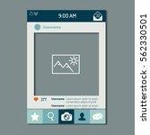 mobile app photo or video frame ... | Shutterstock .eps vector #562330501